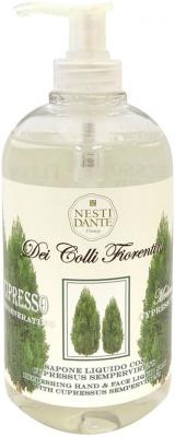Мыло жидкое Nesti Dante Regenerating Cypress tree / Восстанавливающий кипарис 500 мл 5056106 мыло кипарис 250г nesti dante мыло кипарис 250г