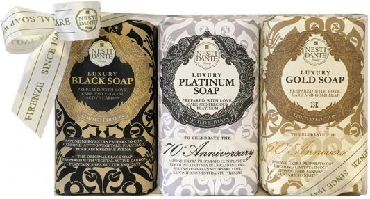 Мыло твердое Nesti Dante Luxury Gold & Platinum & Black 250 гр 3шт. european style brass antique bronze solid brass bathroom soap holder soap basket bathroom accessories soap dish bathroom shelf