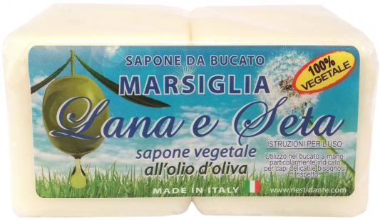 Мыло твердое Nesti Dante Lana & Seta with olive oil Laundry Soap / Шерсть и Шёлк 150 гр 2шт. мыло твердое nesti dante villages
