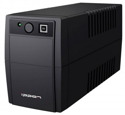 ИБП Ippon Back Basic 850 Euro 480Вт 850ВА черный поврежденная упаковка ибп ippon back basic 1050 euro 600вт 1050ва черный