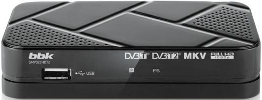 Тюнер цифровой DVB-T2 BBK SMP023HDT2 серый из ремонта