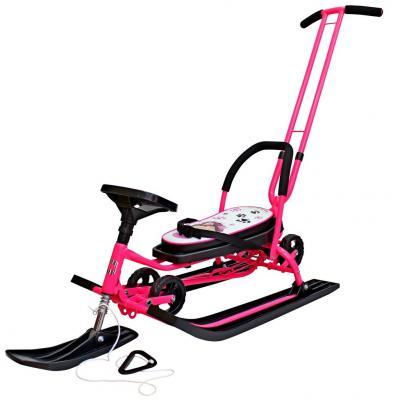 Снегокат БАРС Mobile до 100 кг Пластик сталь розовый рисунок 7004 б/у снегокат барс 128 comfort snowbirds дак черный оранжевый