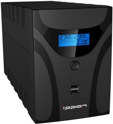ИБП Ippon Smart Power Pro II Euro 1600 1600VA Черный из ремонта