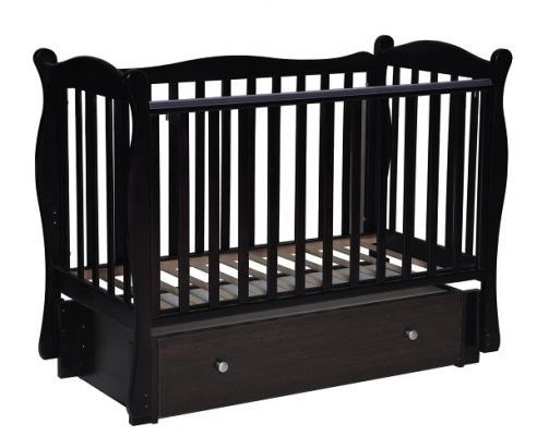 Кроватка с маятником Кедр Любаша 6 (шоколад)