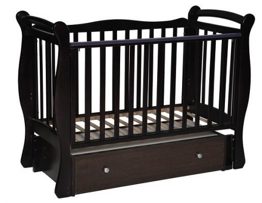 Кроватка с маятником Кедр Любаша 5 (шоколад)