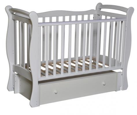 Кроватка с маятником Кедр Любаша 5 (белый)