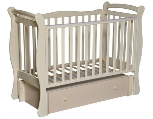 Кроватка с маятником Кедр Любаша 5 (слоновая кость) кроватка с маятником sweet baby eligio avorio слоновая кость