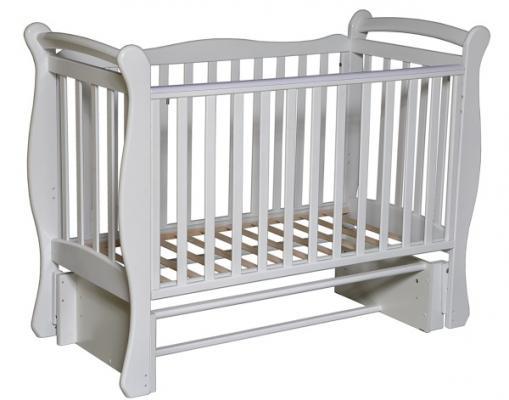 Кроватка с маятником Кедр Любаша 5/5 (белый) угольник магнитный м 5 про кедр 8005173