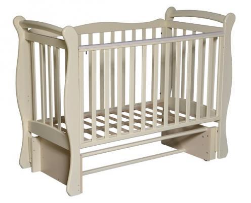 Кроватка с маятником Кедр Любаша 5/5 (слоновая кость) кроватка с маятником sweet baby eligio avorio слоновая кость