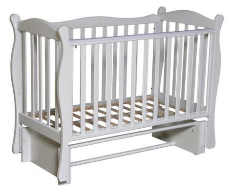 Кроватка с маятником Кедр Любаша 6/6 (белый) редуктор углекислотный ур 6 6м кедр 1270018