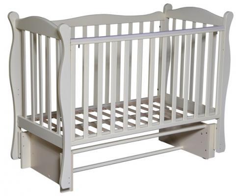 Кроватка с маятником Кедр Любаша 6/6 (слоновая кость) кроватка с маятником sweet baby eligio avorio слоновая кость