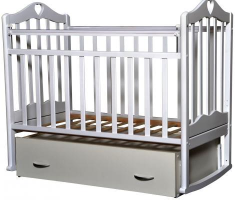 Кроватка с маятником Антел Каролина 4 (белый) кроватка антел каролина 6 махагон