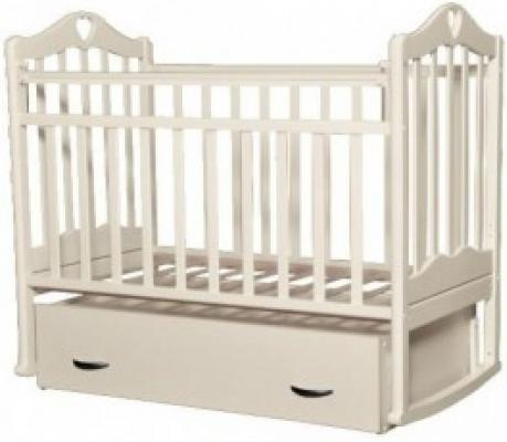 Кроватка с маятником Антел Каролина 4 (слоновая кость) кроватка с маятником sweet baby eligio avorio слоновая кость