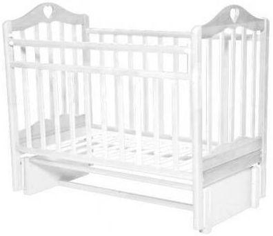 Кроватка с маятником Антел Каролина 5 (белый) кроватка антел каролина 6 махагон