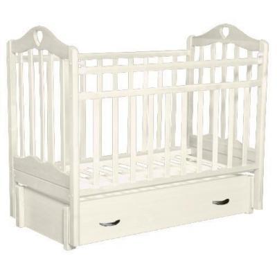 Кроватка с маятником Антел Каролина 6 (белый) кроватка антел каролина 6 махагон
