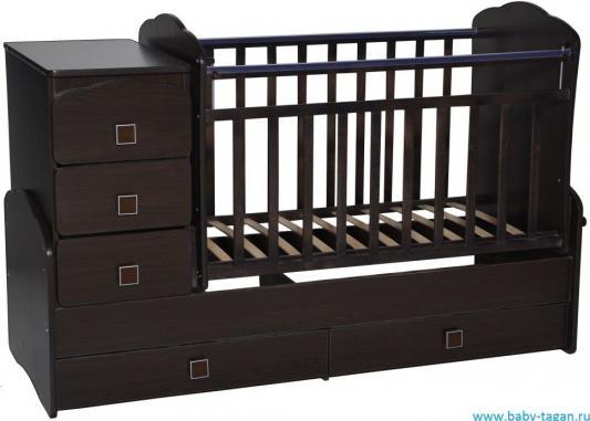 Кроватка с маятником Антел Ульяна 1 (фигруная спинка/венге) кроватка антел ульяна 1 трансформер венге