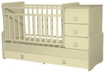 Кроватка с маятником Антел Ульяна 2 (слоновая кость) кроватка трансформер антел ульяна 1 жираф слоновая кость