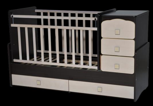 Кроватка с маятником Антел Ульяна 2 (венге-клен) кроватка антел ульяна 1 трансформер венге