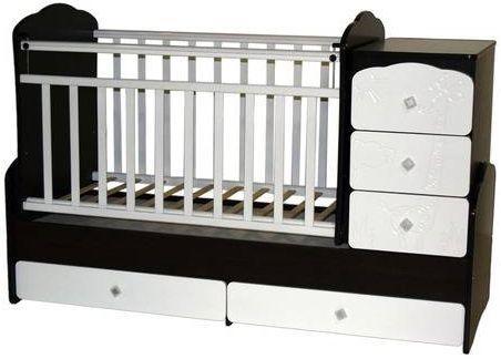 Кроватка с маятником Антел Ульяна 1 (жираф/венге-белый) кроватка антел ульяна 1 трансформер венге