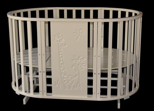 Кроватка с маятником 6-в-1 Антел Северянка 3 (жираф/слоновая кость) кроватка с маятником sweet baby eligio avorio слоновая кость