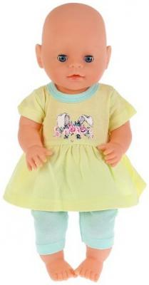 Одежда для кукол &quot,Карапуз&quot, 40-42см, костюм легинсы и туника &quot,зайка&quot, в пак. в кор.100шт