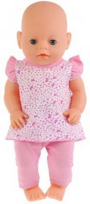 Одежда для кукол &quot,Карапуз&quot, 40-42см, костюм легинсы и туника &quot,бабочки&quot, в пак. в кор.100шт