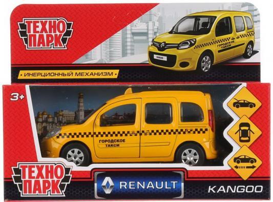 Инерционная машинка Технопарк Renault Kangoo Такси 1:12 желтый инерционная машинка технопарк skoda rapid такси желтый