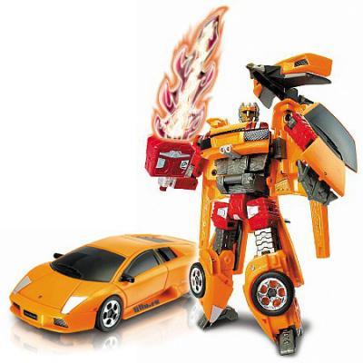 Робот-трансформер HAPPY WELL Робот-трансформер Lamborghini Murcielago 14 см светящийся happy kid робот синий