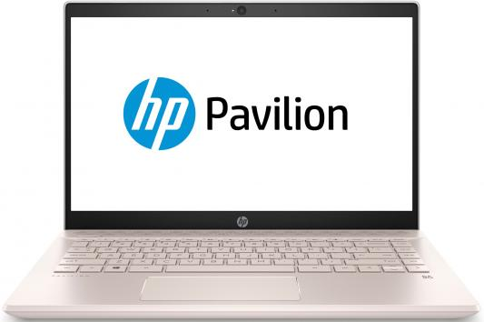 Ноутбук HP Pavilion 14-ce0026ur <4GY64EA> i5-8250U (1.6)/8Gb/1TB+128Gb SSD/14.0FHD IPS AG/NV GT MX150 2GB/FPR/Cam HD/Win10 (Ceramic white w/ Pale Ros ноутбук hp pavilion 15 cs0023ur 4ju98ea core i5 8250u 4gb 1tb 16gb optane nv mx150 2gb 15 6 fullhd win10 rose gold