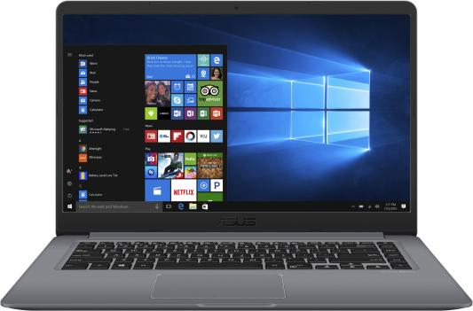 Ноутбук ASUS VivoBook K510UN-BQ502T 15.6 1920x1080 Intel Core i5-8250U 1 Tb 128 Gb 8Gb nVidia GeForce MX150 2048 Мб черный Windows 10 90NB0GS5-M09130