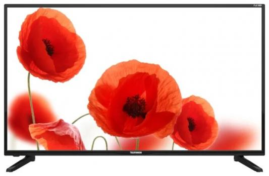 Телевизор LED Telefunken 43 TF-LED43S43T2S черный/FULL HD/50Hz/DVB-T/DVB-T2/DVB-C/USB/WiFi/Smart TV (RUS) телевизор led hartens 40 htv 40f011b t2 черный full hd 50hz dvb t dvb t2 dvb c usb rus