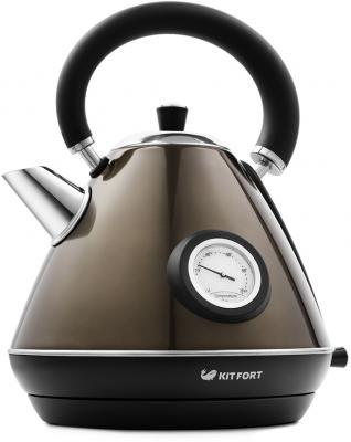 Чайник KITFORT KT-644-2 2200 Вт бронзовый чёрный 1.7 л нержавеющая сталь цена