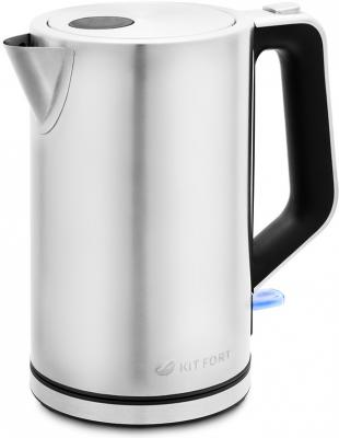 лучшая цена Чайник электрический Kitfort КТ-637 1.7л. 2200Вт серебристый (корпус: нержавеющая сталь/пластик)