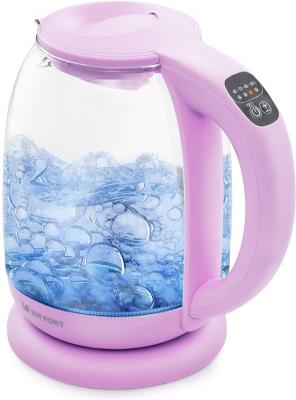 Чайник электрический KITFORT КТ-640-2 2200 Вт сиреневый 1.7 л пластик/стекло