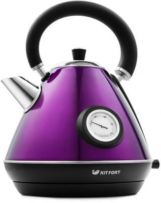 Картинка для Чайник KITFORT KT-644-4 2200 Вт фиолетовый чёрный 1.7 л нержавеющая сталь