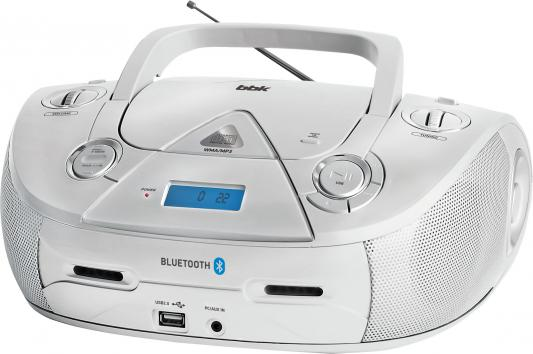 цена на Аудиомагнитола BBK BX318BT серебристый 5Вт/CD/CDRW/MP3/FM(dig)/USB/BT