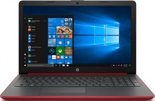 "Ноутбук HP 15-da0078ur Core i3 7020U/4Gb/500Gb/Intel HD Graphics 620/15.6""/SVA/HD (1366x768)/Windows 10/red/WiFi/BT/Cam hp hp 250 g4 i5 5200u 4gb 500gb dvd rw intel hd graphics 5500 15 6 sva hd 1366x768 windows 10 home black wifi bt"