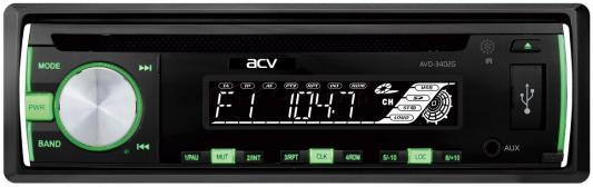 Автомагнитола CD DVD ACV AVD-3402G 1DIN 4x45Вт автомагнитола acv avs 1711rd 1din 4x45вт