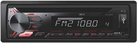 Автомагнитола CD DVD ACV AVD-8010R 1DIN 4x45Вт автомагнитола acv avs 1711rd 1din 4x45вт