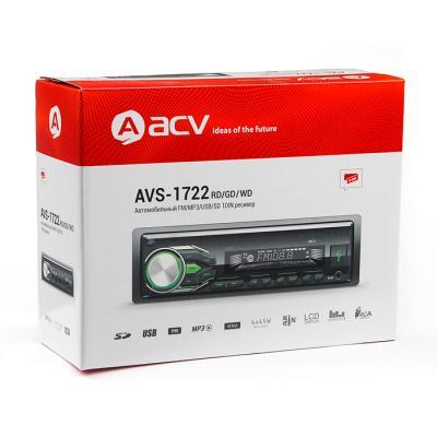 Автомагнитола ACV AVS-1722GD 1DIN 4x45Вт автомагнитола acv avs 813bm 1din 4x50вт