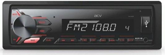 Автомагнитола ACV AVS-812R 1DIN 4x50Вт автомагнитола acv avs 1701r red