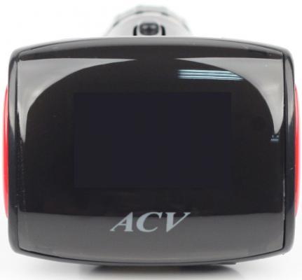 Автомобильный FM-модулятор ACV FMT-142 черный SD USB PDU (21244) ritmix fmt a745 black fm модулятор