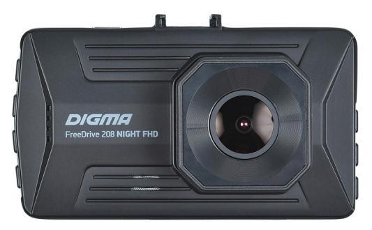 Видеорегистратор Digma FreeDrive 208 Night FHD черный 2Mpix 1080x1920 1080p 170гр. GP6248A