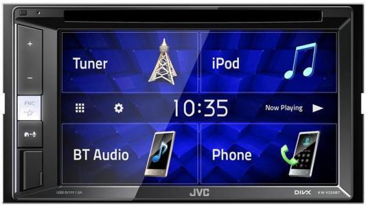 Автомагнитола CD DVD JVC KW-V250BT 2DIN 4x50Вт автомагнитола jvc kw m14 2din 4x50вт