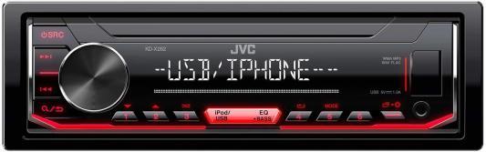 Автомагнитола JVC KD-X262 1DIN 4x50Вт автомагнитола jvc kd x352bt usb mp3 fm rds 1din 4x50вт черный