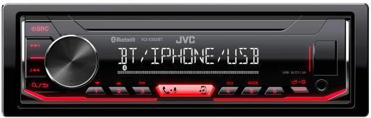 Автомагнитола JVC KD-X362BT 1DIN 4x50Вт автомагнитола cd kenwood kdc 130ug 1din 4x50вт