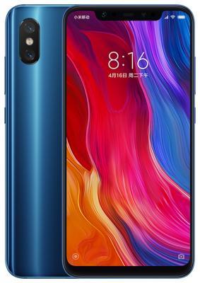 Смартфон Xiaomi Mi 8 128 Гб синий (X19489) смартфон htc u12 128 гб синий