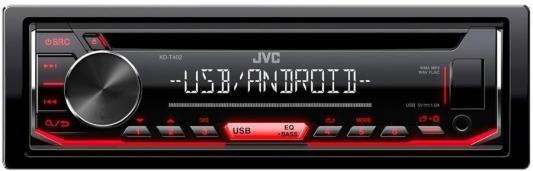 Автомагнитола CD JVC KD-T402 1DIN 4x50Вт автомагнитола jvc kd x355
