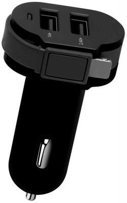 Автомобильное зарядное устройство Wiiix CH-U2-9-UMU 2 х USB 8-pin Lightning 2.1A черный lychee pattern 360 degree rotation pu leather case for samsung galaxy tab 3 10 1 p5200 dark brown