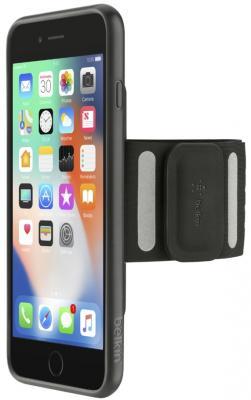Спортивный чехол Belkin F8W741DSC00-APL для iPhone 7 Plus iPhone 8 Plus чёрный спортивный чехол belkin f8w741dsc00 apl для iphone 7 plus iphone 8 plus чёрный